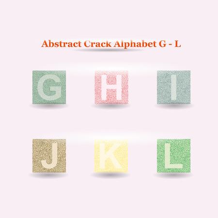 uppercase: Modern Vector Crack Alphabet uppercase. Crack Font. ABC uppercase Crack Letters. Modern crack pattern Lettering. Crack Alphabet capital letter