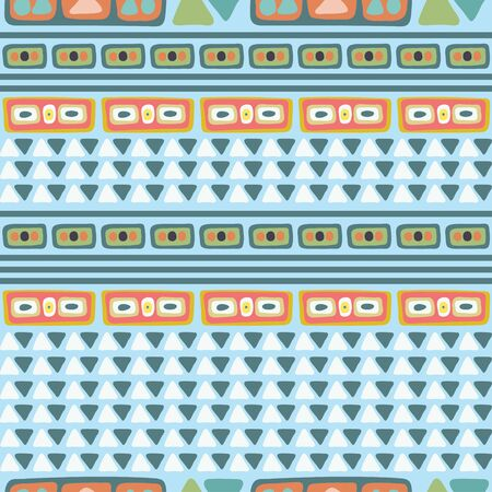blue and orange color schemed geometric pattern suitable for clothing and any home decor and stationary products
