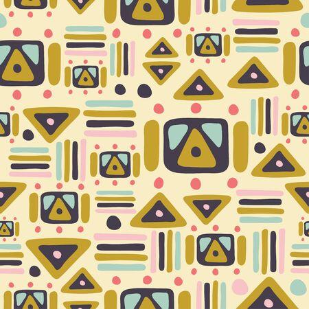 green and yellow geometric seamless repeat pattern