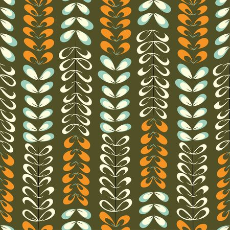 green vertical leaf pattern. A seamless tile which repeats from all sides.