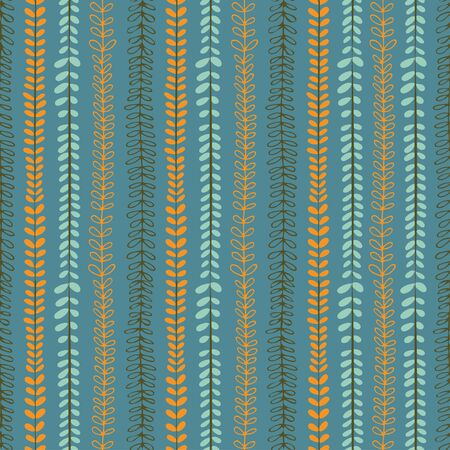 Blue repeat pattern of vertical leaf lines.