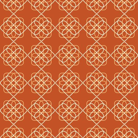 A geometric flower pattern repeated in a grid format.