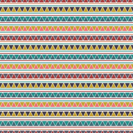 Colorful tribal vector seamless repeat pattern. Ilustracja