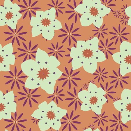 floral vector decorative seamless repeat pattern tile Ilustracja