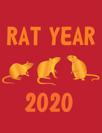 Vector file of chinese new year of the rat 2020