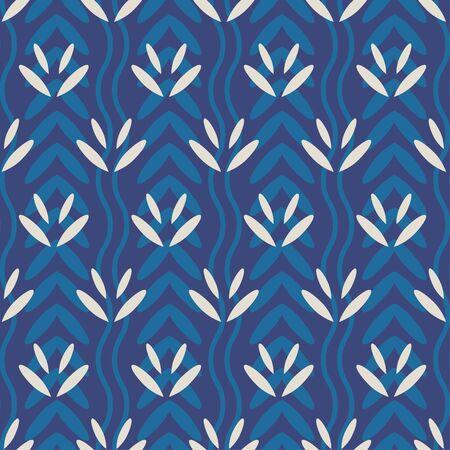 traditional dabu seamless pattern vector file. Ilustração