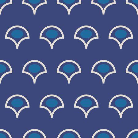 vector traditional Indian dabu print seamless pattern tile. Ilustração
