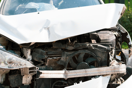 The car after the accident. Reklamní fotografie