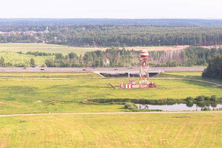 Vnukovo airport. Construction at the airport. Spare radar at Vnukovo airport. Standard-Bild