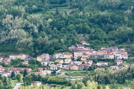 Tuscany. A village in a valley near the town of Barga. An old hill town in Italy.