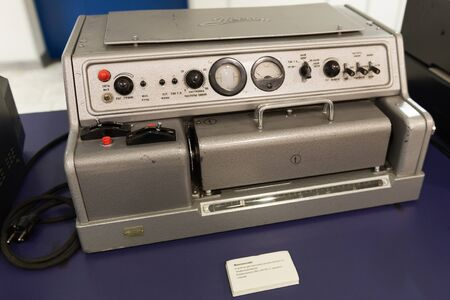 Teletype 1960s. The old apparatus for the TASS news agency.