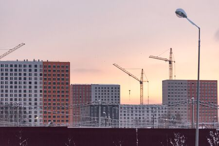 Construction of houses. Construction of new houses in Moscow. Residential complex Buninskie Luga .