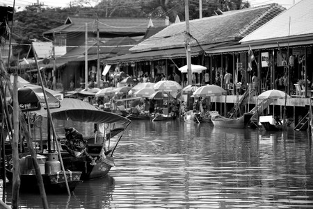 thailand canal market photo