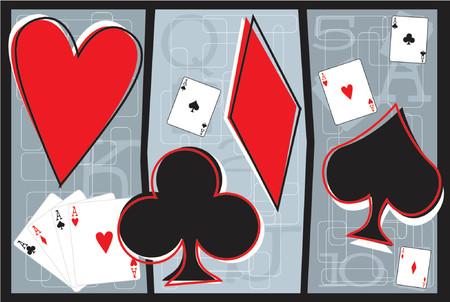 texas hold em: completamente editable ilustraci�n vectorial de jugar a las cartas y la carta s�mbolos  Vectores