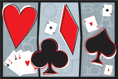 fully editable vector illustration of playing cards and playing card symbols