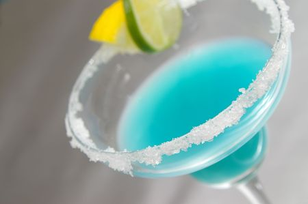 Fruity blue margarita. Stock Photo - 439125