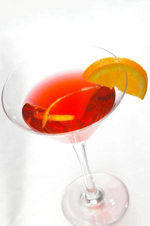 High-Key Cosmopolitan martini.