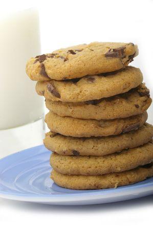 indulgent: An indulgent snack of milk and cookies.