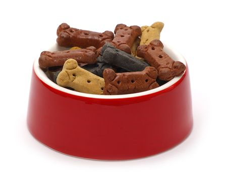 A delicious dish of designer dog treats for the discerning dog.