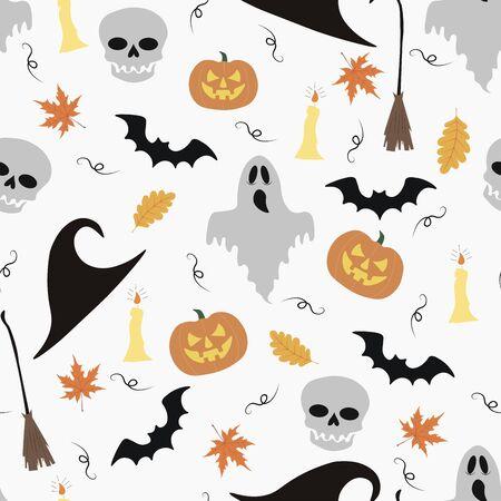 Happy halloween seamless vector pattern.