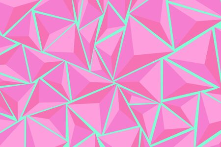 Abstract background consisting of triangles. Color Aqua Menthe. Vector background for design.