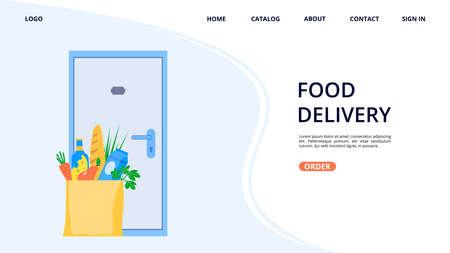 Food online delivery concept. Online food ordering.
