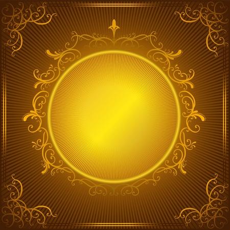 vintage gold frame: Vector vintage gold frame
