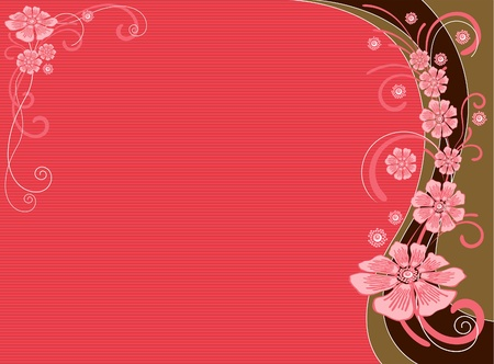 pink background with flower and space for your texts Vector