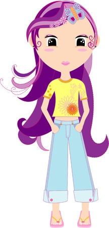 trouser: vector teenage girl