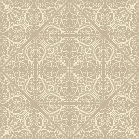 Seamless repeat vintage illustration pattern Vector