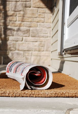 Newspaper delivery photo