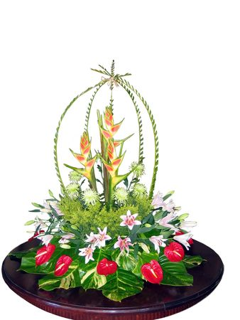 exotic flower: Exotic flower bouquet isolated