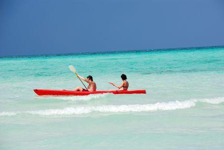 Sea kayaking Standard-Bild