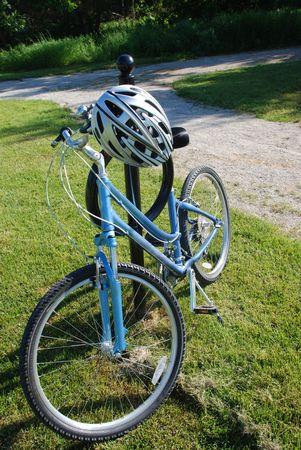 Bike and helmet