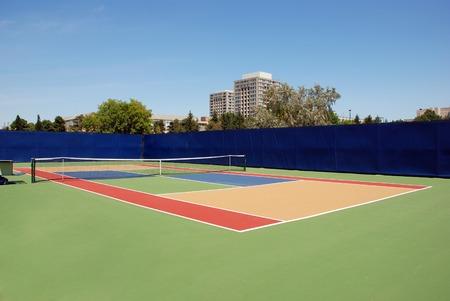 Tennis open empty court - hard surface