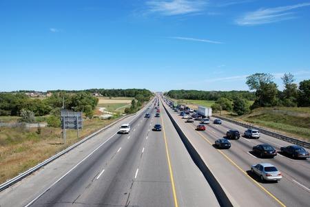 Highway scene of driving cars. Traffic.