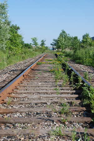 end of a long day: Railway