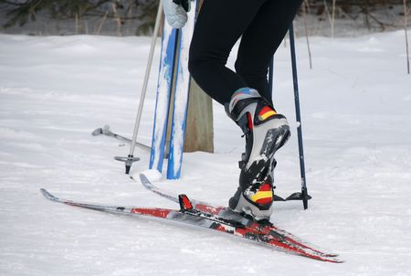Cross Country Skiing Stock Photo