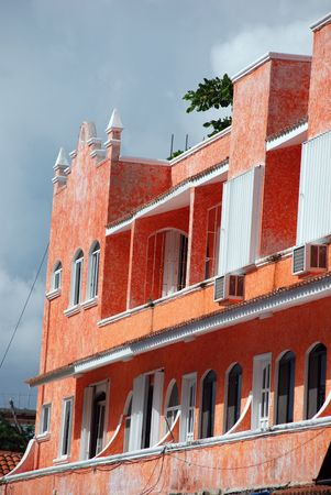 timeshare: Colorful Caribbean architecture