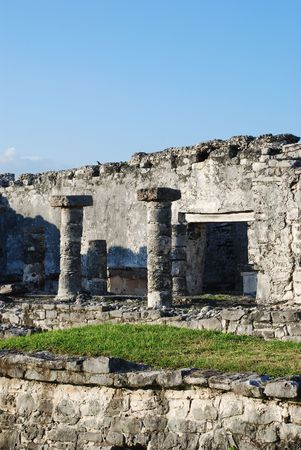 site: Archaeological site of Tulum, Mexico. Stock Photo
