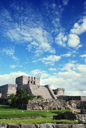 Tulum mayan ruins in Mexico