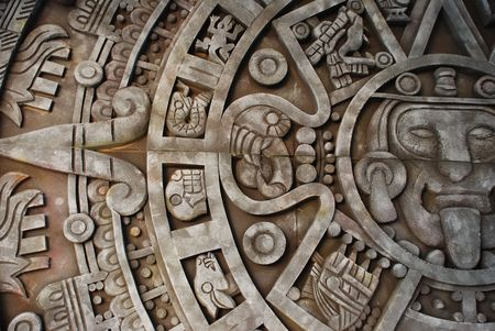 Mayan calendar. Mexican heritage and traditions.
