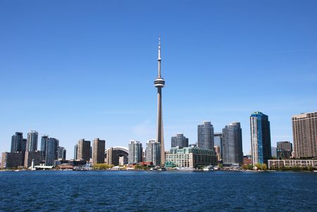 building cn tower: Downtown Toronto skyline