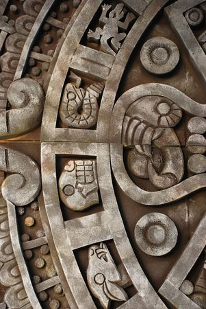 Ancient aztec calendar Stock Photo