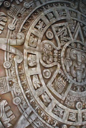 Ancient aztec calendar Stock Photo