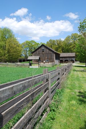 Rural landscape with green fields and farm house Stock Photo - 4580131