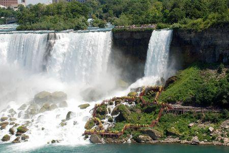 gush: American side of Niagara Falls Stock Photo