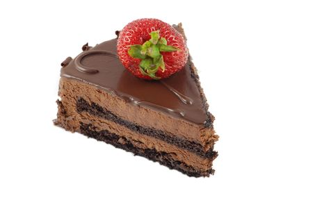chocolate tart:  Piece of chocolate cake