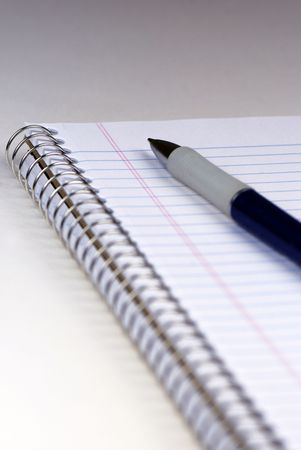 notebook: Notebook and pen  Stock Photo