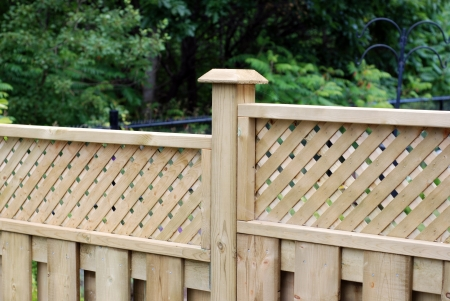 fences: Wooden fence